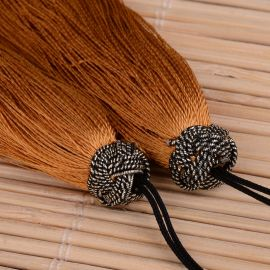 Nylon tassels for necklaces for jewelry Bright brown size 60-65x10 mm