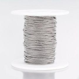 Nerūdijančio plieno 304 grandinėlė 1,5 mm 1,5 mm 1 metras