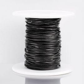Nerūdijančio plieno 304 grandinėlė vėriniamsapyrankėmspapuošalams Juodos spalvos dydis 12 mm