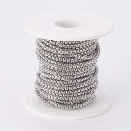 Nerūdijančio plieno 304 grandinėlė 2,5x2,5 mm 1,2 mm ~10 m.