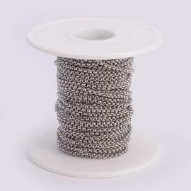 Nerūdijančio plieno 304 grandinėlė 2 mm 1 mm ~10 m.