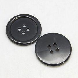 Plastikinė saga 4 skylių. Juodos spalvos dydis 20x3 mm rankdarbiams