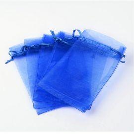 Dekoracijos - Organzos maišelis. Mėlynos spalvos