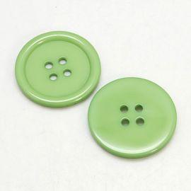 Buttons - Plastic saga. Khaki Coin 4 holes