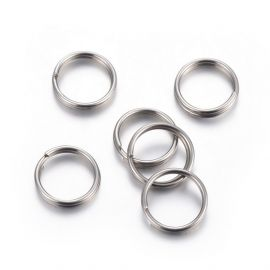 Jewelry accessories - Stainless steel 304 double ring. Gray