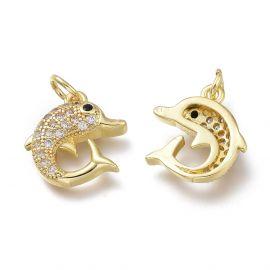 Brass pendant with Zircon