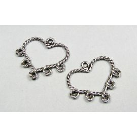 "Links connectors ""Heart"" 34x29 mm"