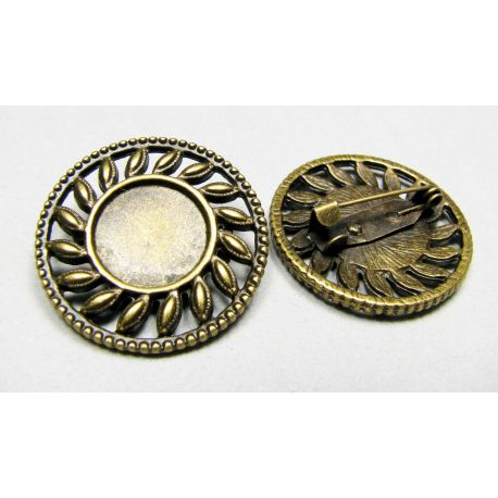 Base sagei, can be pasted caboshed 13mm, brooch size - 29 mm