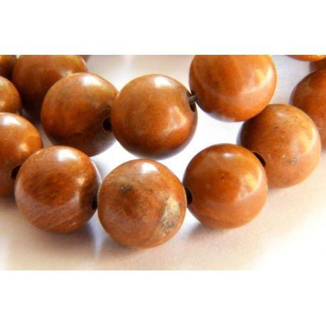 Jaspio beads brown round shape 8mm