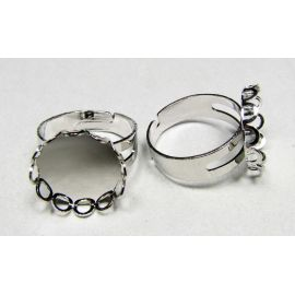 Ring base for cabochon / camouflage 15 mm
