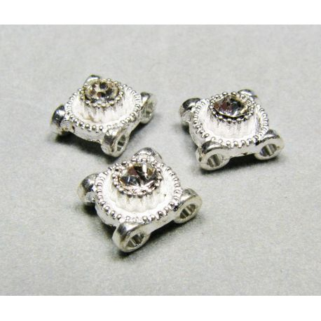 Inset, silver encrusted with white apertures 8 mm