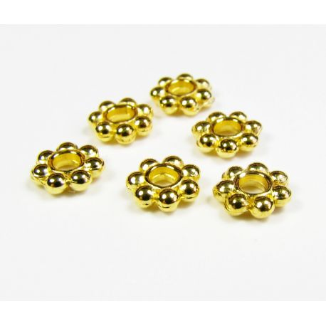 Insert for the manufacture of jewelry gold flower shape 6 mm