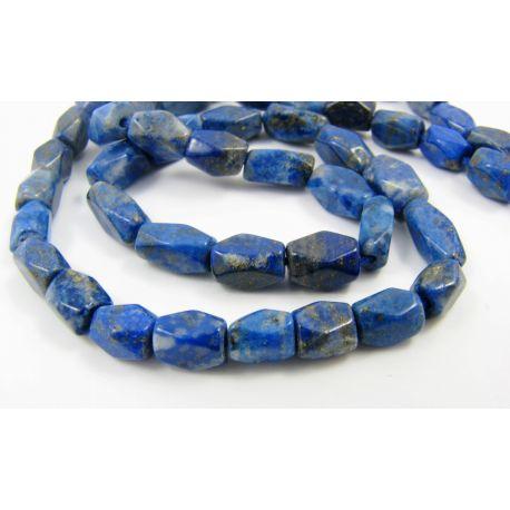 Natural Lapis Lazuli Beads, Blue, Tube Shape 5-9x4 mm