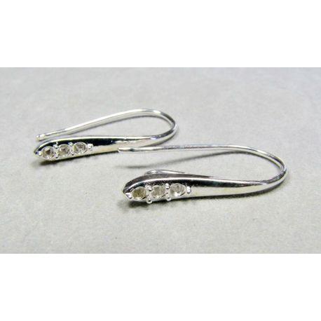 Kabliukai skirti auskarų gamybai, pasidabruoti, 24x13 mm dydžio