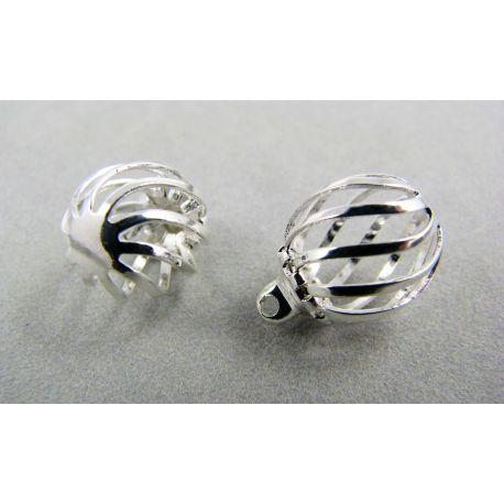 Pendant bubble, silver, size 11x9 mm