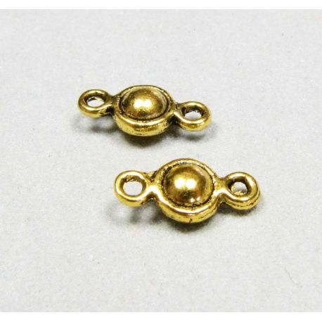 Distributor - for the manufacture of jewelry, aged gold color 10x5 mm