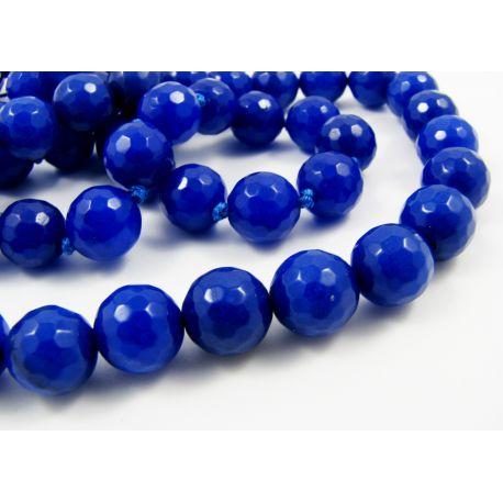 Safiiri kivist helmed, sinised, 10 mm