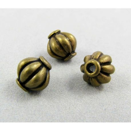 Insert for the manufacture of jewelry, aged broznic color 8x8 mm