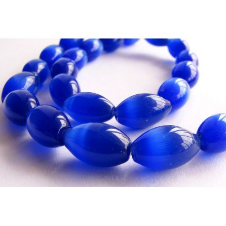 Cat eye stone beads blue color 8x12mm