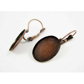 Earrings hooks, 32x14 mm, 3 pairs