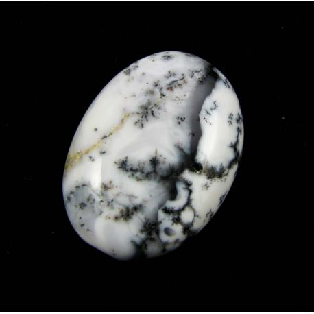 Natūralus opalo dendrito kabošonas, ovalo formos 24x18 mm