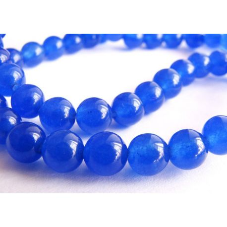 Safyro karoliukai mėlynos spalvos apvalios formos 6mm