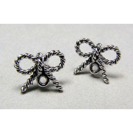 """Kabliukai auskarams """"Kaspinėlis"""", sendintos sidabro spalvos, 16x13 mm dydžio"""