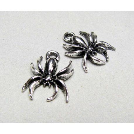 Spider pendant, senditna silver, size 18x14