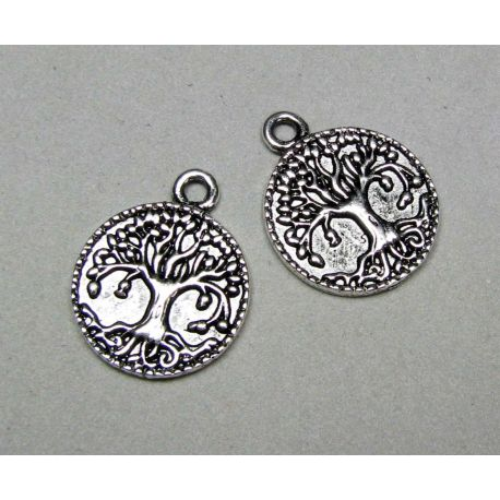 """Pendant """"Tree"""", aged silver, size 22x17"""