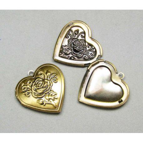"Medallion pendant for photo ""Heart"" size 34x24 mm"