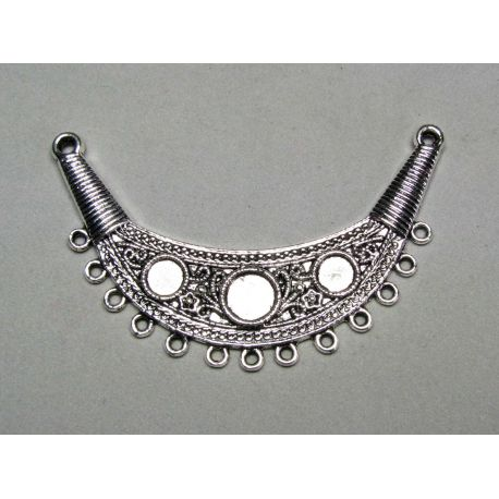 Distributor aged silver color 16 loops, 70x20 mm