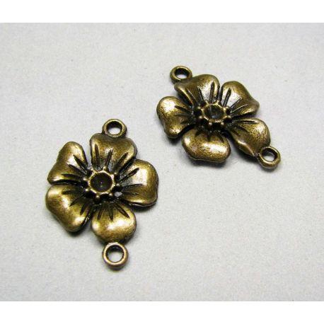 """Izplatītājs """"Zieds"""" - rotu ražošanai, izturētas bronzas krāsas 27x18 mm"""