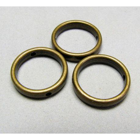 Intarpas skirtas papuošalų gamybai, sendintos brozninės spalvos, žiedo formos 16 mm