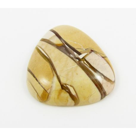 Mokaito cabochon, beige 24x21x5 mm