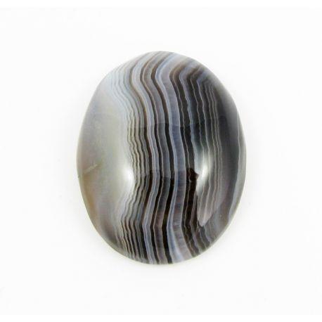 Bostvanos Agato kabošonas, ovalo formos 31x24x8 mm