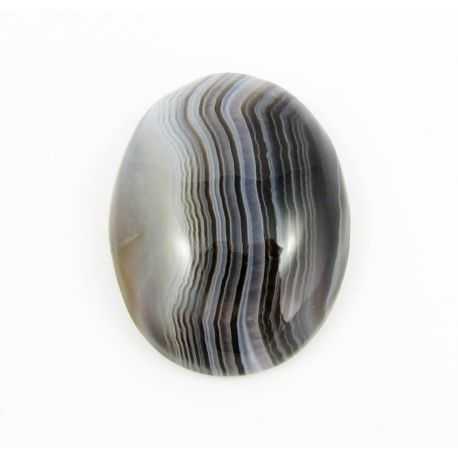 Bostvana Agate cabochon, oval 31x24x8 mm