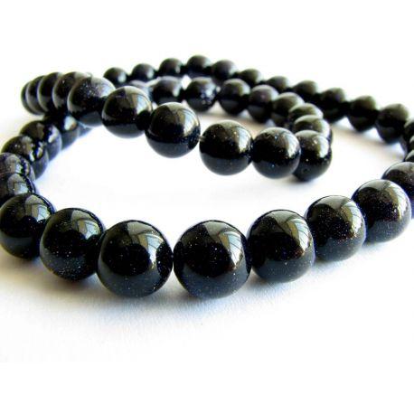 Cairo Night Beads Dark Blue Round Shape 6mm