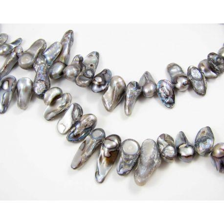 Gėlavandenių KESHI perlų gija 10-22 mm dydžio