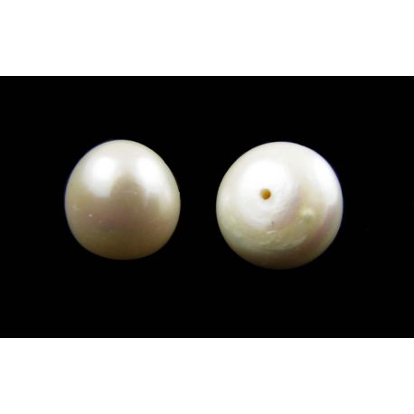 Semi-drilled freshwater pearls 11-14 mm size 1 pair