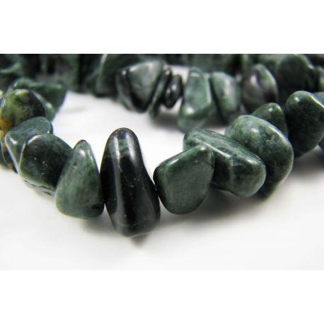 Jade bead rubble, green,10-20 mm in size