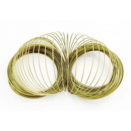 Wire with memory for bracelet, aged bronze, 75-80 mm