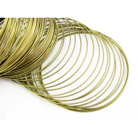 Wire with memory for bracelet, aged bronze, 80-85 mm