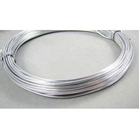 Aliuminio vielutė sidabro spalvos, 0,8 mm storio 10 metrų
