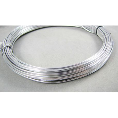 Aluminum wire silver color, 0.8 mm thick 10 meters