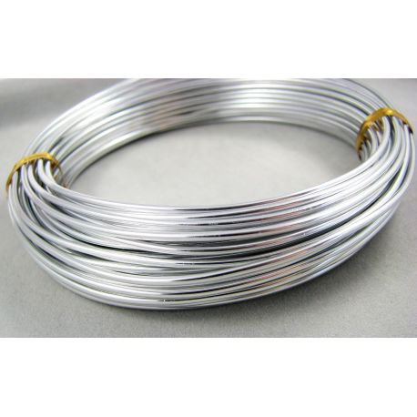 Aluminum wire silver color, 1.5 mm thick 10 meters