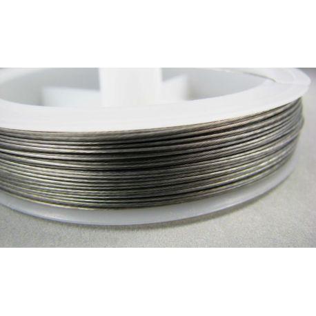 Juvelyrinis troselis tamsios sidabro spalvos, 0.45 mm , apie 70 metrų, 1 rit.