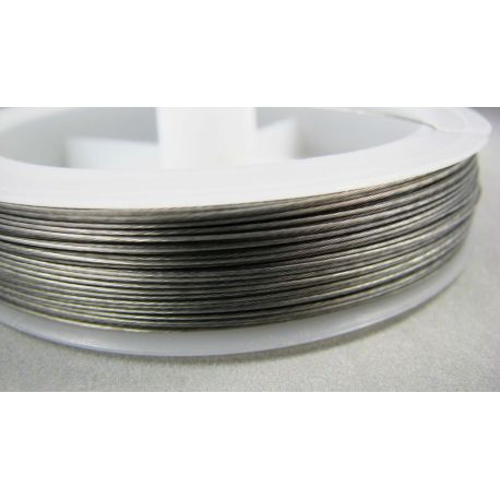 Jeweler cable dark silver color, 0.45 mm , about 70 meters, 1 rit.