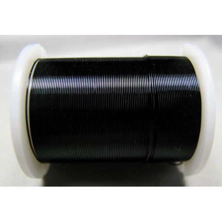 Varinė vielutė, juodos spalvos, 0.30 mm storio 10 metrų