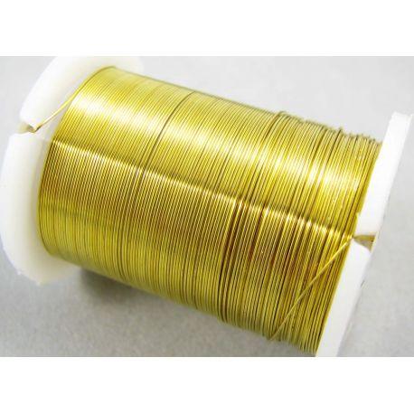 Varinė vielutė, geltonos spalvos, 0.30 mm storio 10 metrų