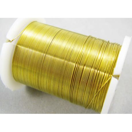 Copper wire, yellow, 0.30 mm thick 10 meters